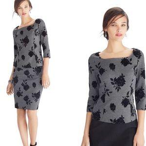 NWT White House Black Market Gray Floral Skirt Set
